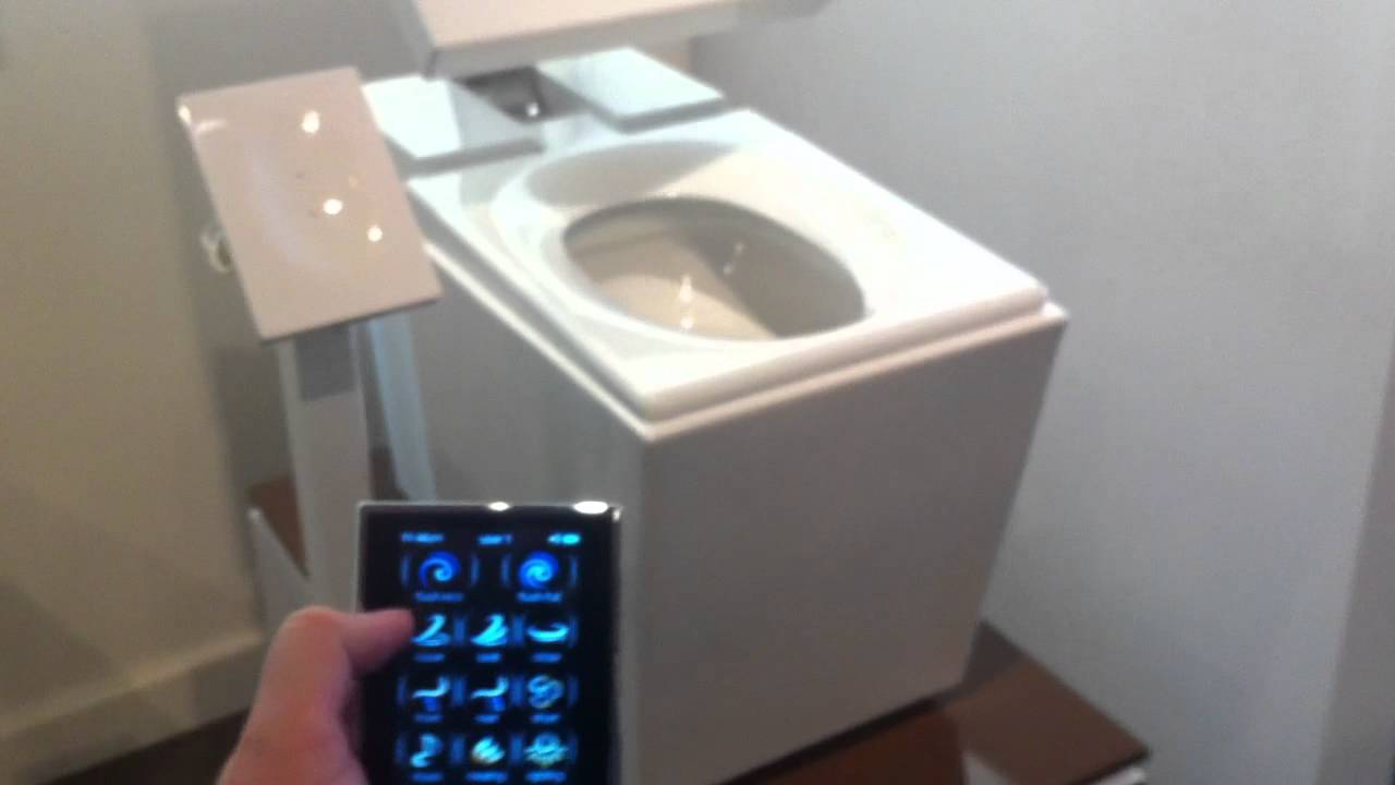 High-tech toilets fitted using touchscreen