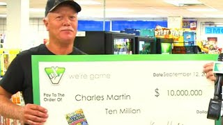Man Bought $10 Million Lottery Ticket After Rain Stopped Him From Mowing Lawn