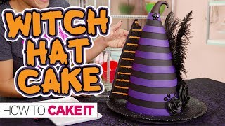 Chocolate Ganache WITCH HAT CAKE!! | How To Cake It