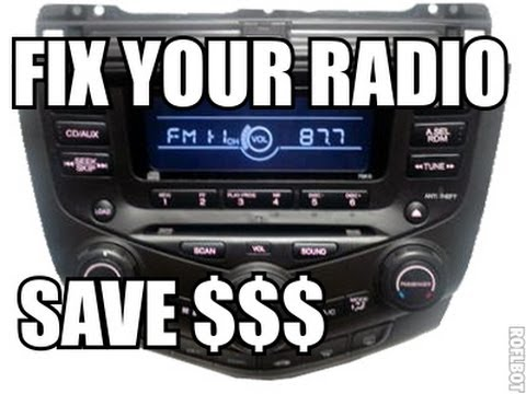 Honda Accord Radio Back light Fix Tutorial