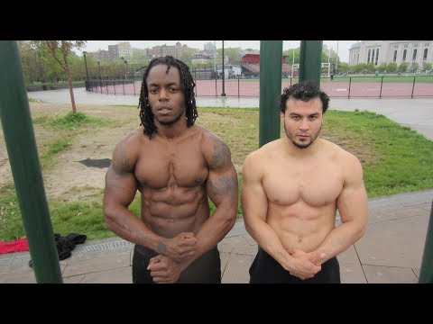 Superhuman Strength Calisthenics Battle - Shredda vs. Eric Rivera