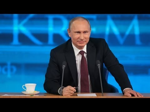 Vladimir Putin on Edward Snowden at press conference
