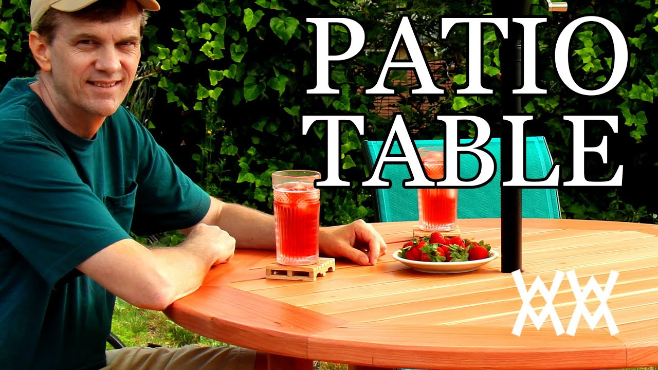 How to make a patio table. This outdoor table is easy to ...