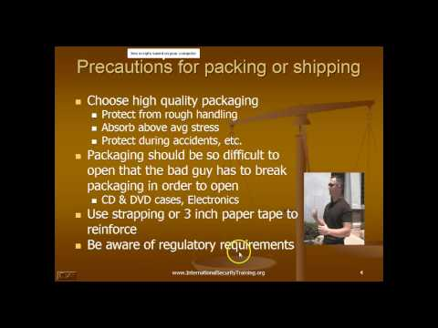 Shipping and Packaging Security - Executive Protection - Security Management - Training Course Image 1