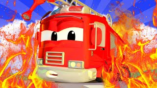Tom the Tow Truck - Frank the FIRE TRUCK is STUCK under the RUBBLE! - Car City ! Trucks Cartoons