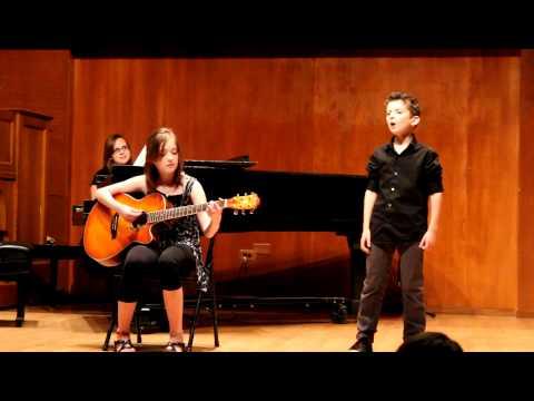 Davis and Madison sing Blvd of Broken Dreams Unplugged
