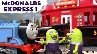 Thomas and Friends Toy Trains fun McDonalds toy story - Drive Thru run by the funny Funlings TT4U