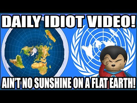Man Stares At The Sun On A Flat Earth.. And Becomes An Idiot!