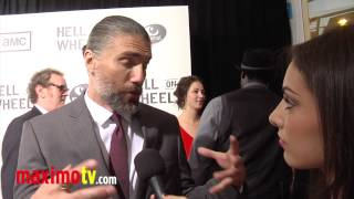"Anson Mount Interview at ""Hell On Wheels"" Season 2 Premiere Screening Arrivals"