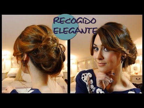 Peinado/Recogido elegante de fiesta fácil. Elegant and easy updo for parties