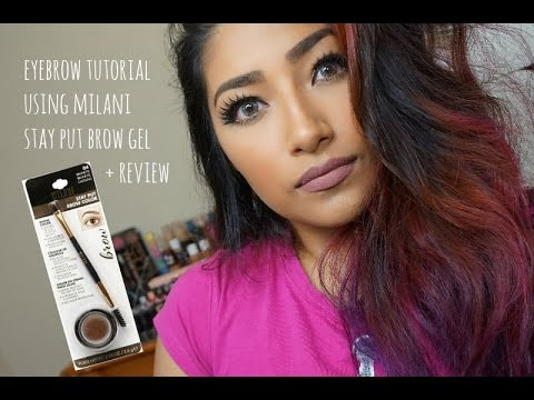 EYEBROW TUTORIAL Using MILANI STAY PUT BROW COLOR BRUNETTE + Review