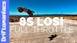 DRIFTOMANIACS - LOSI Desert Buggy XL-E on 8S At Full Throttle