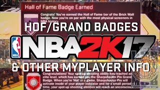 HOF Badges, GRAND BADGES!!! Custom Jumpshots!!! | NBA 2K17