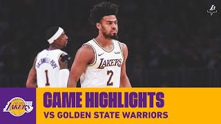 HIGHLIGHTS | Quinn Cook vs. Golden State Warriors  (10/16/19) | Lakers
