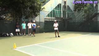 HLV Trương Quang Vũ hướng dẫn khởi động Tennis Phần 3