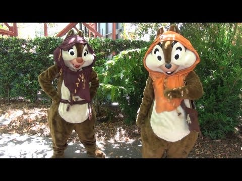 Chip and Dale as Ewoks at Star Wars Weekends 2013, Walt Disney World, Disney's Hollywood Studios