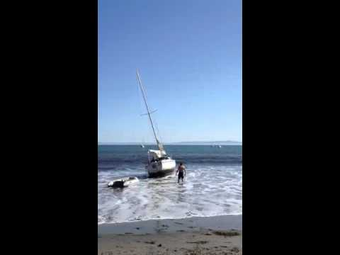 Refloat on Santa Barbara beach