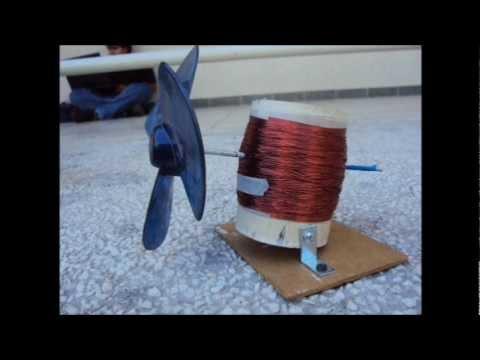 Generador e lico casero proyecto youtube - Generadores electricos pequenos ...