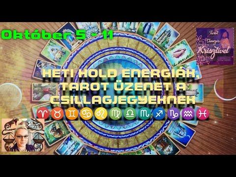 Heti Hold Energiák, Tarot Üzenet a Csillagjegyeknek /október 5-11/időkód a leírásban!
