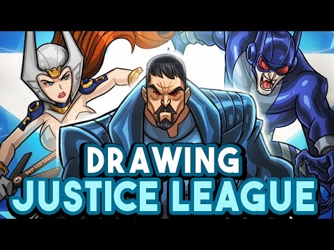 CARHOO Draws Justice League - [ 300k Subs SPECIAL ]
