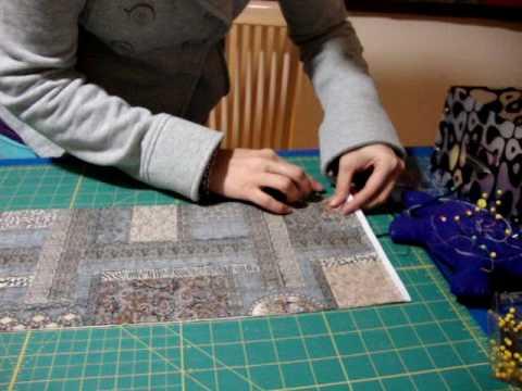 Tercer paso unir y coser las telas patchwork quilting - Como coser cortinas paso a paso ...
