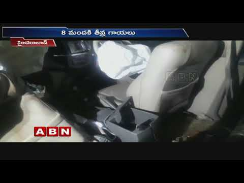 Car rams electrical pole | 8 hospitalized | ABN Telugu