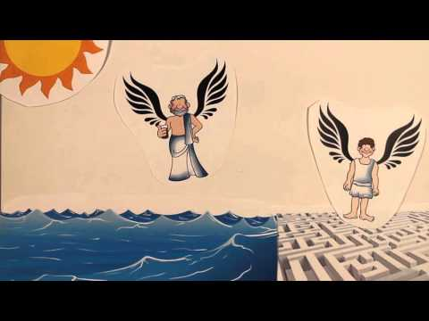 The myth of Icarus and Daedalus