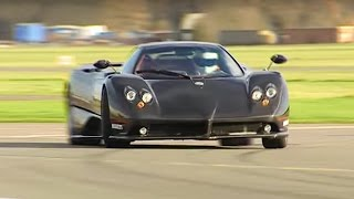 Zonda F vs Bugatti Veyron Power Lap - Top Gear - The Stig - BBC