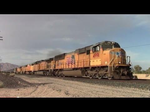 Union Pacific 4991 Leads Ethanol Train at Daggett, CA