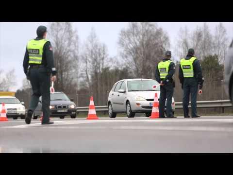 Penktadienio ankstų rytą Vilniaus kelių policijos reidas