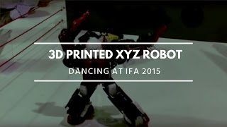 3D printed XYZ robot dancing at IFA 2015