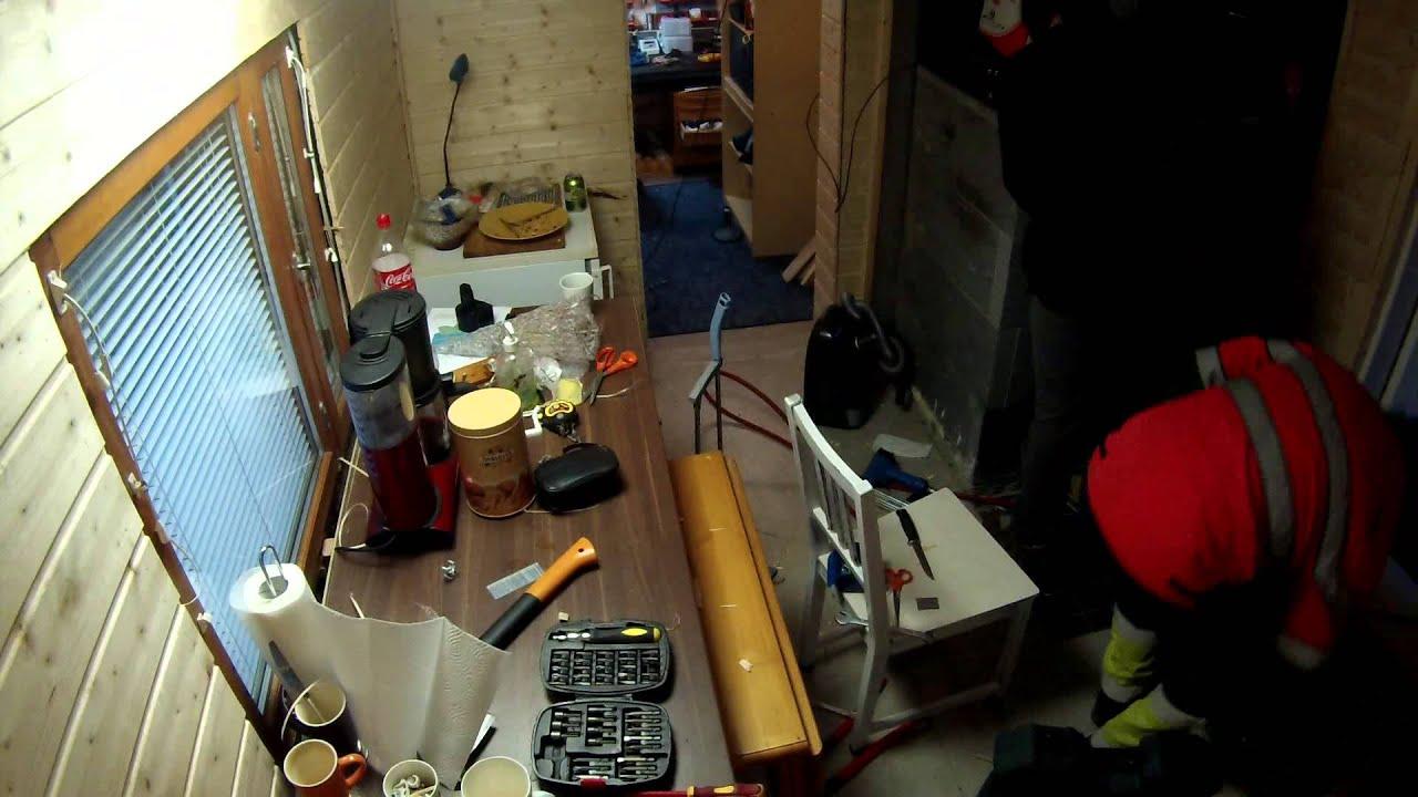 Keittiöremontti jatkui taas 31 10 2014  YouTube
