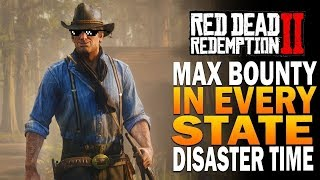 Max Bounty In EVERY State - Red Dead Redemption 2 [Playstation 4 Pro]