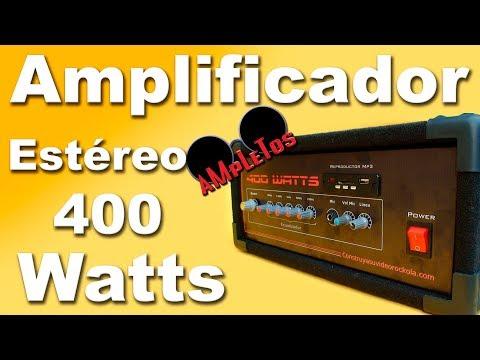 Amplificador estéreo de 400w parte 1