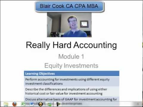 1 Really Hard Accounting: Accounting for Equity Investments