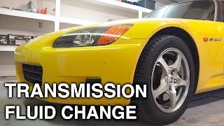 How To Change Transmission Fluid - Honda S2000