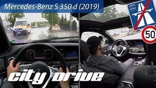 Mercedes-Benz S 350 d (2019) - Driver & Passenger POV City Drive