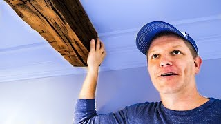How to Install 150 Year Old Hand Hewn Beams // DIY Project - Smarter Every Day 186