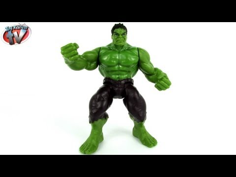 Marvel Avengers Assemble Smashing Hero Hulk Figure Toy Review, Hasbro
