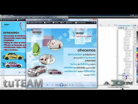 CorelDRAW, Volante / Flyer publicitarion X4, X5, X6 @ADNDC @adanjp