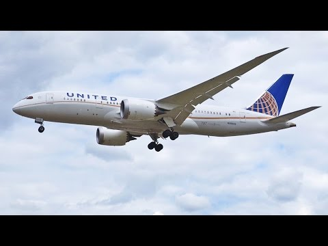 United Airlines Boeing 787-8 Dreamliner N26909 Landing at London Heathrow Airport [1080p HD]