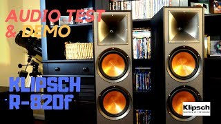 Klipsch R-820f Reference Tower Speakers Audio Demo Test | Two Channel Stereo Music Demo