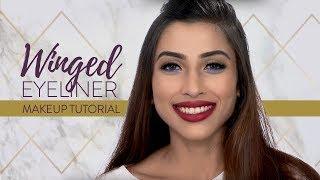 Winged Eyeliner With Pop of Colour Look | Eye Makeup Tutorial | MyGlamm