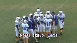 2013-14 MIDDLE SCHOOL FOOTBALL : RAA RAMS vs. NIMS (SECOND HALF - Leon County - Tallahassee, FL)
