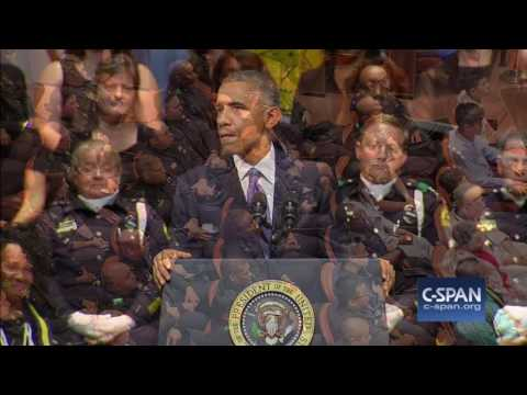 President Obama COMPLETE REMARKS at Dallas Memorial Service (C-SPAN)