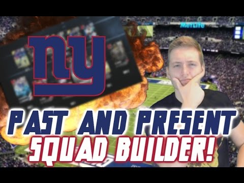 PAST AND PRESENT NEW YORK GIANTS SQUAD BUILDER!   MADDEN 16 ULTIMATE TEAM