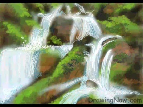 how to draw a waterfall youtube