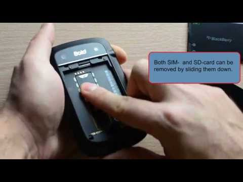 Blackberry Bold 9900: Removing backside/battery/SIM- and SD-card
