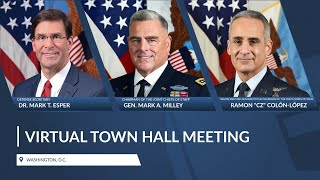 DoD Leaders host a Virtual Town Hall on COVID-19