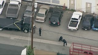 Suspect in LA police pursuit runs, hides under car